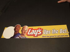 "1992  LAY""S  DISPLAY PIECE W/  LARRY BIRD BALD + JABBAR"