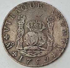 8 Reales 1759 MMFernando VI VTRAQUE VNUM Mexico Colonial  Nice Grade !!