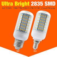 E27 E14 2835 SMD LED Lampen Leuchtmittel Glühbirne Energiespar Birne 5-15W 220V