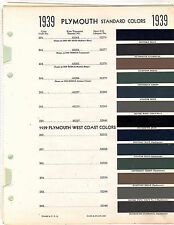 1939 PLYMOUTH 39 COLORS PAINT CHIPS 39 SHERWIN WILLIAMS 13PC WEST COAST