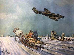 Original Acrylic Painting by P.Hill. Junkers Ju-86. Stalingrad Airlift 1942-43.