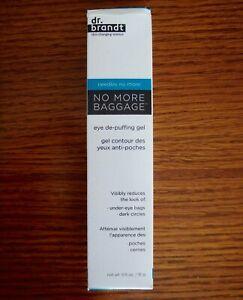 Dr. Brandt No More Baggage Eye De Puffing Gel 0.5 oz New Reduces Dark Circles