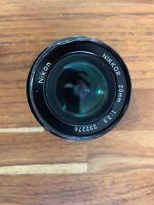 Vintage: Nikon NIKKOR 20mm 1:3.5 Lens