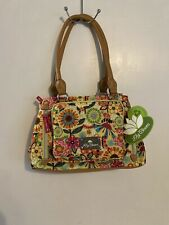 Lily Bloom MAGGIE SATCHEL Color BUSY BEE Triple Section Multi-Purpose Bag NWT