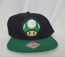 1 up mushroom snapback hat 2012 green black and white