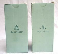 """Partylite.2 Large Scented Candles 3"""" X 6"""".Scarlet Blossoms/ Rose.New In Box"""