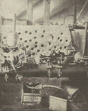 A1189 - Traforo del Sempione - Perforatrice Brandt - Stampa Antica del 1905