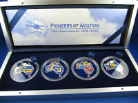 2003 $1 TUVALU SILVER PROOF COIN - PIONEERS OF AVIATION COLLECTION - Perth Mint