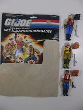 1987 GI Joe Sgt Slaughters Renegades Full Uncut Cardback-figures complete set