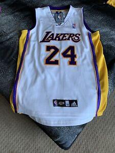 Los Angeles Lakers Kobe Bryant NBA Adidas Sewn Basketball Jersey Authentic #24