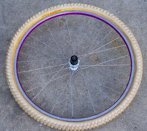 Deore XT SunRims CRE-16 Vintage PURPLE MTB Rear Wheel 8 Speed Panaracer XC Magic