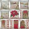 "18"" Printing Gifts flower Bird Home Decor Cotton Linen Cushion Cover pillow case"