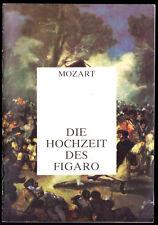 Theaterprogramm, Komische Oper Berlin, Die Hochzeit des Figaro, 1986