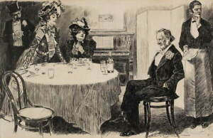 Charles Dana Gibson The Education of Mr. Pipp Poster Giclee Canvas Print