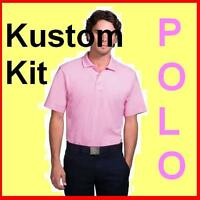 Mens Pink cotton polo shirt Kustom Kit NEW  S/M/L, IDEAL XMAS GIFT