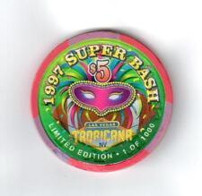 1997 Super Bash Tropicana Las Vegas, NV Limited 1:1000 $5 CASINO POKER CHIP