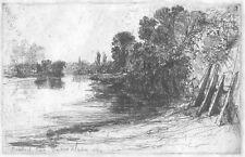 "Sir F Seymour Haden"" Brentford Ferry"", British 19th C, Original Etching"