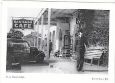 "+PC-Postcard-""Soldier Walking Down Main St""-1940's(Bass Cafe) Round Rock Tx (#25"