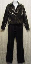 Gothic BLACK Shiny SNAKESKIN PVC Jacket Pants SET! S 3