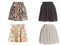 Vintage Girls Women Summer Pleated Floral Cute dot Chiffon Short Mini Skirt