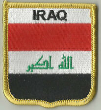 IRAQ FLAG EMBROIDERED PATCH BADGE