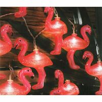 10 Novelty Flamingo Solar Garden Party Patio LED Hanging String Lights Outdoor