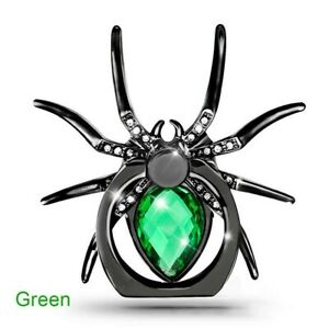 Universal 360 Rotate Mobile Phone Finger Ring Stand Diamond Metal Spider Holder