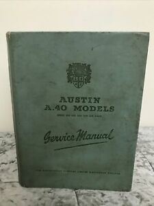 Austin A40 Models Service Manual 1957