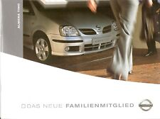 Prospekt / Brochure Nissan Almera Tino 03/2005
