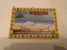 Vintage Windsor Ontario Canada Fold Out Postcard Book