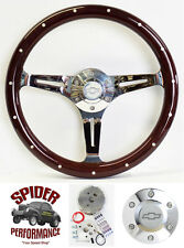 "70-73 Suburban Blazer Chevy pickup steering wheel BOWTIE 15"" DARK MAHOGANY WOOD"