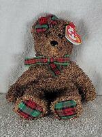 TY BEANIE BABY HAPPY HOLIDAYS UNIQUE PLUSH BEAR WITH SCOTCH BOW