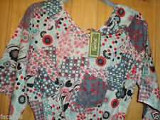 Vestiti da donna tunica multicolore in cotone