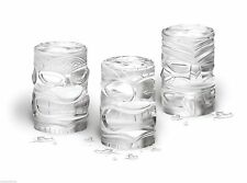 Tovolo Tiki Ice Molds 3 Set Silicone Cocktail 3 Detailed Island Shapes Stackable