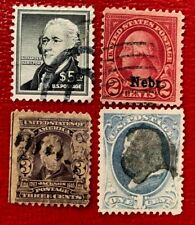 US Stamps SC #1053, 302, 145, 659 Nerb Overprint Used CV:$30