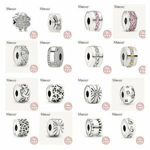 925 sterling silver Pandora bracelet charms beads jewelry love heart Genuine
