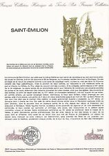 Document Philatélique Timbre 1er Jour : 10/10/ 1981 - Saint-Emilion