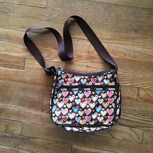 Hearts LeSportsac Messenger Crossbody Bag