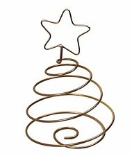 COPPER FINISH WIRE SPIRAL CHRISTMAS TREE STAR DECORATION 12.5CM X 8.5CM X 8.5CM