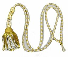 Cord Liturgical  Bishop Tassle Pectoral Cincture  White & Gold Rope Cross R1866