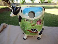Wcl Ceramic Cow Birdhouse