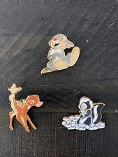 Disney Paris Pins Bambi - Thumper, Bambi And Flower - Vht