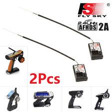 2Pcs Flysky FS-GR3E AFHDS 2.4G 3CH Receiver for GT3B GT2 GT3C Transmitter RC Car