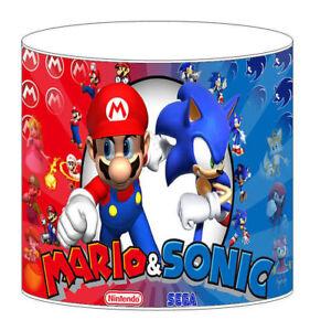 Super Mario Sonic Childrens Lampshades Ceiling Light Table Lamp Duvet Curtains