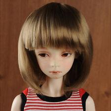 "Dollmore 1/3 BJD dollfie SD wig  (8-9)"" Dan J Wig (Brown) short cut hair"