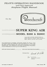 BEECH SUPER KING AIR B200 & B200C - PILOT'S OPERATING HANDBOOK & FAA APPR. AFM