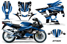 AMR Racing Graphic Kit Wrap Part Suzuki GSXR 1000 Street Bike 01-02 ATTACK BLUE