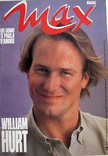 MAX 5 1987 William Hurt Simon Le Bon Iggy Pop Europe Francesca Dellera Romani
