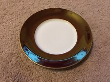 Jaune De Chrome Plate Limoges China NWT Porcelain Red Tango & Gold 10.5""
