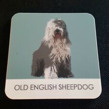 OLD ENGLISH SHEEPDOG COASTER BY BETTY BOYNS GREAT GIFT FOR SHEEPDOG FANS